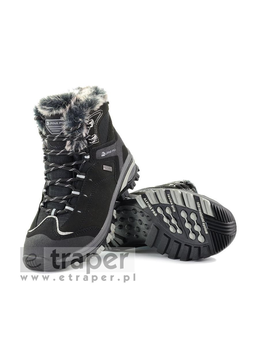 9b5d844482f92 Damskie buty zimowe Alpine Pro Bona Czarne