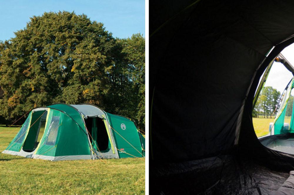 Doskonałym przykładem namiotu rodzinnego z ciemną sypialnią (który bliźniaczo podobny jest do prezentowanego wyżej Vespucci), może być Oak Canyon 6.