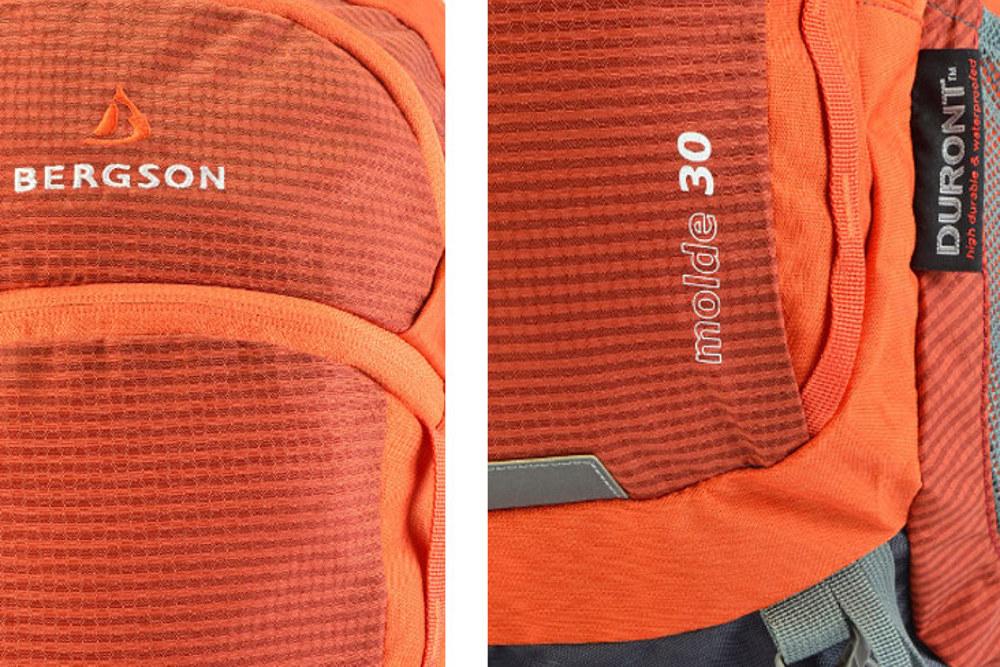 Metriał Duront® Diamond Ripstop® jest bardzo mocny, zwiększa odporność plecaka na uszkodzenia. Jest również wysoce wodoodporny.